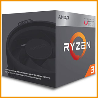AMD Ryzen 3 1200, 4x 3.10GHz